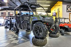 2013 Polaris Ranger Crew - Wheels and tires from Colorado Components - Audio formz lighted stereo top - Built by Woods Cycle Country in New Braunfels, TX