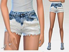 Ombre Shorts by Apathie at TSR via Sims 4 Updates