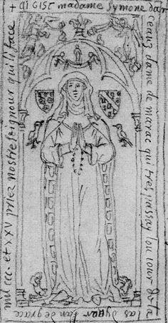 Simonne d'Arceaux (1325). St. Pierre's Church, Arceaux, France (south)