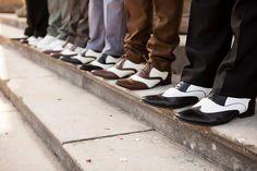 Vintage brogues wedding groom and best men 1940s Wedding Theme, 40s Wedding Dresses, Men's Wedding Shoes, Wedding Themes, Wedding Attire, Vintage Dresses, Wedding Ideas, Wedding Photos, Wedding Inspiration