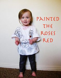 DIY Clothes Refashion: DIY She will be painting the roses red