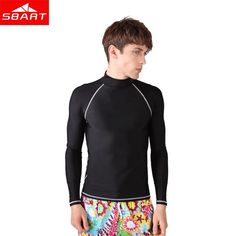 e0a1e272a455 SBART Short Long Sleeve Wet Suits Men UV Protection Windsurf Tops Surf  Rashguard Swim Shirts Man