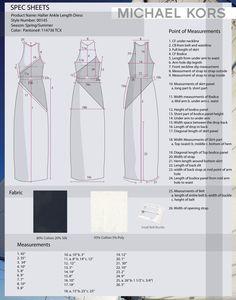 Michael Kors specification sheet