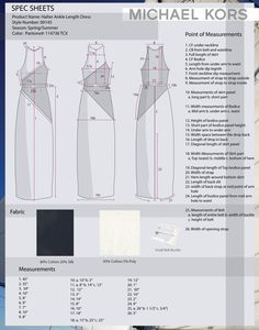 Michael Kors specification sheet