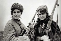 Red Army Snipers c.1942  The soldier on the left, Lt. Lyudmila Pavlichenko, was one of the Red Armys most accomplished snipers during World War II, with 309 confirmed kills of Nazi soldiers, including 36 Nazi snipers.