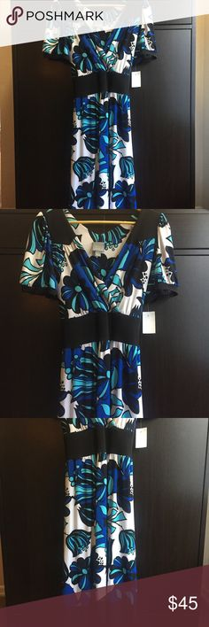 NWT Rabbit Rabbit Rabbit Designs Beautiful Dress Featuring An All-Over Floral Print Is A Great Addition To Any Closet. Perfect Wear For Work Or Date Night.   The V-Neck & Belted Design Help Enhance Just About Any Body Type, Helps Accentuate The Waist And The Knee Length Provides A Bit Of Modesty And Attractiveness.   SELF: 92% Polyester 💎 8% Spandex CONTRAST: 95% Polyester 💎 5% Spandex LINING: 100% Polyester   Please Let Me Know If You Should Have Any Questions. Thank You For Looking 😘…