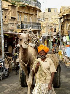 In the streets of India...