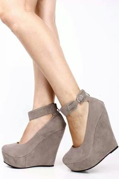 dark gray wedges | Shoes | Pinterest | Gray wedges, Dark grey and ...
