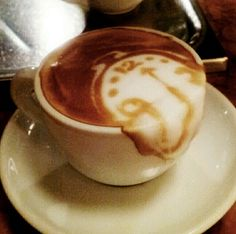 "Salvador Dalí ""The Persistence of Memory"" Latte art"