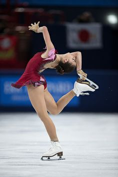 Adelina Sotnikova, Russia ~~ won the gold at Sochi, 2014
