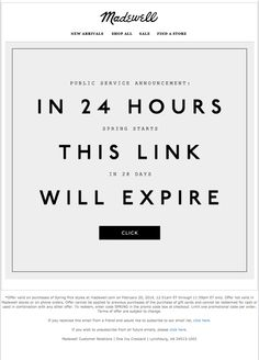 Madewell: In the next 24 hours… Email Marketing, Digital Marketing, Teaser Campaign, Welcome Emails, Public Service Announcement, Medusa, Ol, Instagram