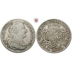 Pfalz, Kurpfalz, Karl Theodor, 2/3 Taler 1758, ss: Karl Theodor 1743-1799. 2/3 Taler 1758 Mannheim. Wildberger Ausbeute. Dav. 753;… #coins