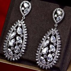 Zircon Earring JHZ-220 USD59.14, Click photo to know how to buy / Contact me for discount, follow board for more inspiration
