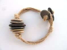 Beach Stone Wrap Surfers Jewelry - ROCK n ROPE IN by StoneAlone - Mens Rock Bangle, Mens Jewelry, Unisex Wrap Bracelet, Unisex Jewelry. $24.50, via Etsy. love this!