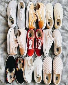d3d1a7c33d5388 Red vans - pink vans - salmon vans - flame vans - grey vans - yellow vans -  tan vans - checkered pink vans - old skool Vans - sneaker inspo