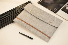 Front Pocket Felt 15 Macbook Pro Case  Felt 15 by JYcustomworkshop