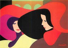 AMLETO dalla COSTA - Group of 10 Gorgeous & Vibrant ART NOUVEAU Postcards