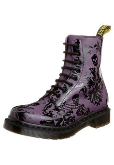 CASSIDY - Lace up Boots - purple,♥