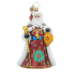 Christopher Radko Golden Treasures Old World Santa Claus Ornament $44.1, You Save $18.90