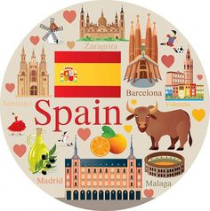 Culture Day, Spain Culture, Hedwigs Theme Piano, European Day Of Languages, Valentine's Day Letter, Spanish Party, Black And White Doodle, Spanish Heritage, Countries And Flags