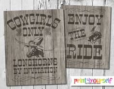 Rhodeo Signs // Instant Download 8x10 Printable by Print4Yourself
