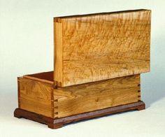 Butternut, walnut, and bird's-eye maple keepsake box