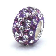 Bella Fascini Royal Purple Lavender & Clear Mix Pave Sparkle Bling - Solid .925 Sterling Silver Core European Charm Bead Made with Authentic Swarovski Crystals - Compatible Brand Bracelets : Authentic Pandora, Chamilia, Moress, Troll, Ohm, Zable, Biagi, Kay's Charmed Memories, Kohl's, Persona & more! Bella Fascini Beads,http://www.amazon.com/dp/B007P7QV7W/ref=cm_sw_r_pi_dp_CS5Nsb0RSPTB70EN