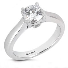 2.02 Ct. Designer Solitaire Diamond Engagement Ring