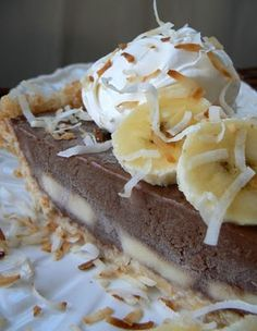 Banana Coconut Ice Cream Pie