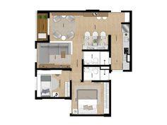 Apto de 2 dormitórios de 53m² com suíte e terraço
