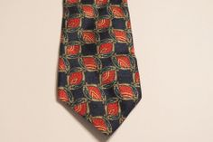 Stafford Men's 100% Silk Tie Blue, Maroon/Red, Green