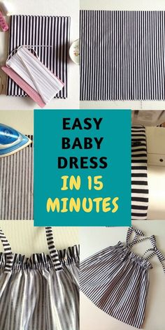 This is a 15- minute baby dress pattern, that can be made from a rectangular piece of fabric. This is an easy pattern suitable for any beginner seamstress.