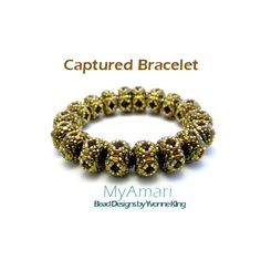 Captured Right Angle Weave Bracelet Beading Pattern
