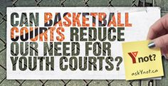 CAN BASKETBALL COURTS REDUCE OUR NEED FOR YOUTH COURTS? - Ynot?