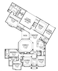 Really Cool House Floor Plans big 5 home floor plan redink homes $200,000 280m2 5x2x2 | house