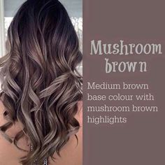 Mushroom Brown Higlight Hair color ideas 2017 - New Hair Design 30 Hair Color, Hair Color 2017, Hair Colours, 2018 Hair Color Trends, Hair Color For Brown Skin, Cool Brown Hair, 2018 Color, Gray Highlights Brown Hair, Winter 2017 Hair Trends