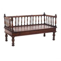 A bench seat that can be recreated from two crib sides or two headboards...