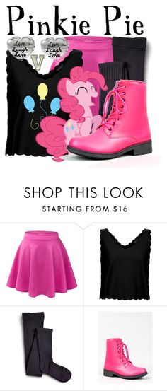 """""""Pinkie Pie (My Little Pony: Friendship is Magic)"""" by fabfandoms ❤ liked on Polyvore featuring LE3NO, Topshop, Sperry and Qupid"""