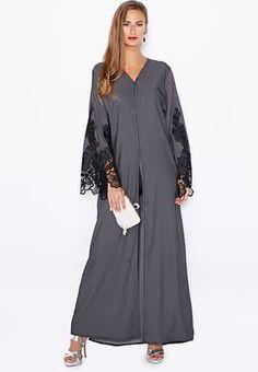 Haya's Closet Lace Sleeve Abaya
