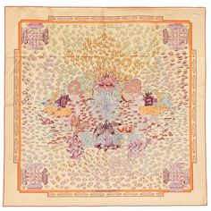 exquisite detail for the Rencontre Oceane, scarf by Annie Faivre for Hermes