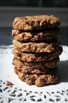 Oatmeal raisin cookies...gluten-free, dairy free, sugar free and even my kids like them!