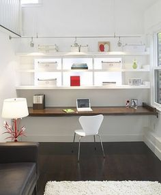 Interiors, Office: Built-In Desk by camillestyles, via Flickr