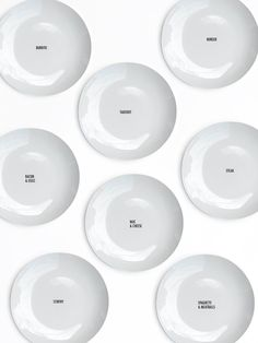 Love these dinner plate sets with our kinds of inspirational words. Like, mac & cheese. Or takeout!
