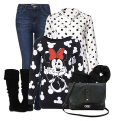 Minnie Mouse Sweater by mozeemo on Polyvore featuring Miss Selfridge, Topshop, Gabriella Rocha, Nine & Co, Cole Haan and Equipment