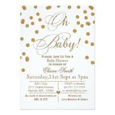 white gold #babyshower invitations