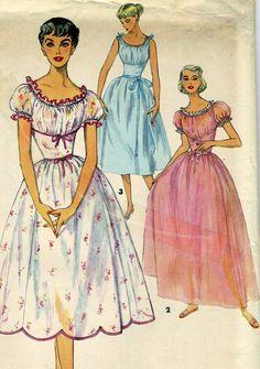Vintage Simplicity 4980 UNCUT Misses Peasant Style by RomasMaison