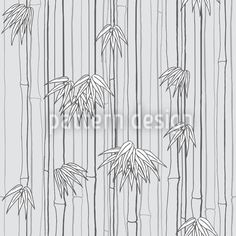 Bamboo Woods Grey by Martina Stadler available for download as a vector file on patterndesigns.com