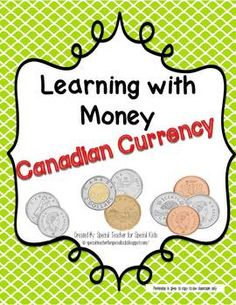 CANADIAN Coin Classroom Visuals and Math Games Teacher Lesson Plans, Teacher Resources, School Fun, School Stuff, School Ideas, Homeschool Math, Homeschooling, Learning Money, Jewish School