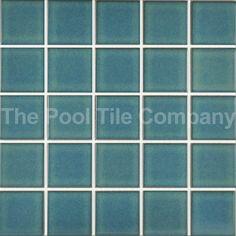 Antique Aqua 58mm Ceramic Mosaic Tiles