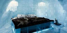 Lujosas habitaciones, Suite de lujo del hotel de hielo en Suecia